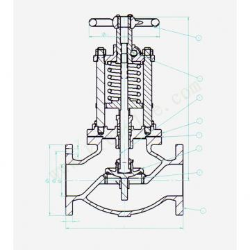 Danfoss Shut-off valves 148B4607 STC 32 A ANG  SHUT-OFF VALVE HANDWHEEL
