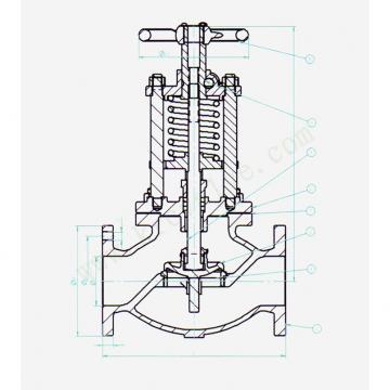Danfoss Shut-off valves 148B4639 STC 100 A STR SHUT-OFF VALVE HANDWHEEL